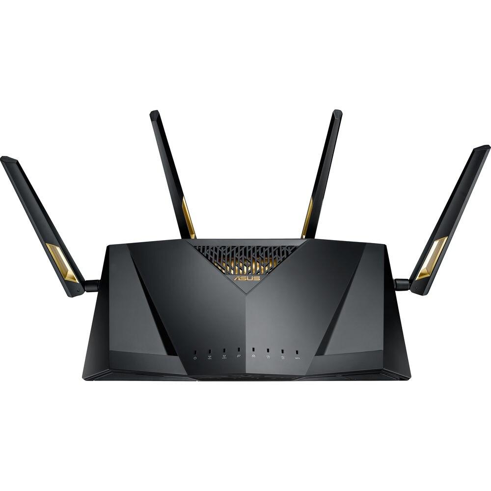 Fotografie Router wireless ASUS RT-AX88U, Dual-Band, cu suport MU-MIMO si OFDMA