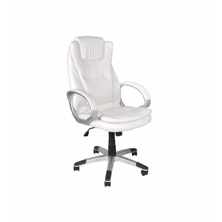 Ügyvezetői, irodai szék, forgó, állítható, fehér szín