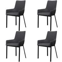 vidaXL 4 db sötétszürke étkező szék