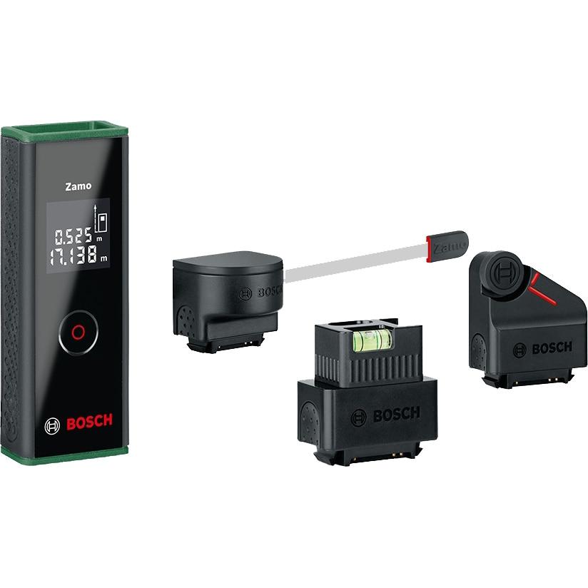 Fotografie Telemetru cu display Bosch Zamo III, 20 m, ±3 mm precizie, accesorii incluse