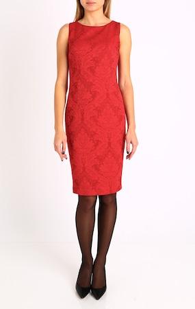 Елегантна рокля Daphne 172N_1209JWE, От еластичен сатен жакард