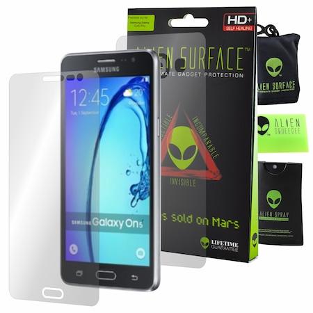Комплект Защитно Фолио Alien Surface HD, Samsung Galaxy On5 Pro, Защита Екран, Заден + Alien Fiber