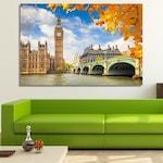 Пано от канава - Лондон, Биг Бен от Pano bg, Цяла картина, канава, размер М 120 х 80 см