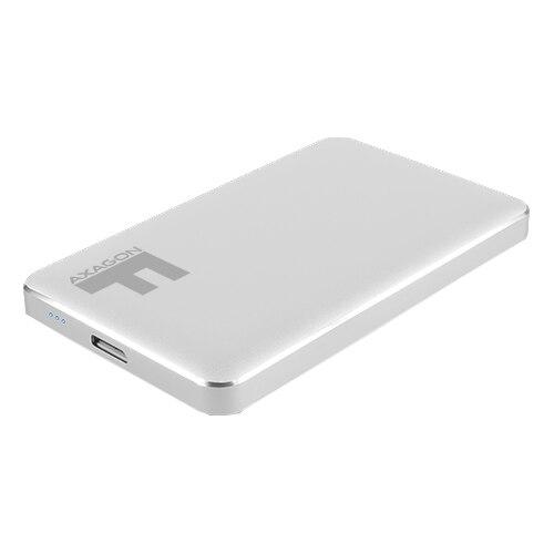 Fotografie Rack extern Axagon EE25-F6S, USB 3.0, compatibil 2.5 inch SATA HDD/SSD, 6 Gbit/s, Metal, Argintiu