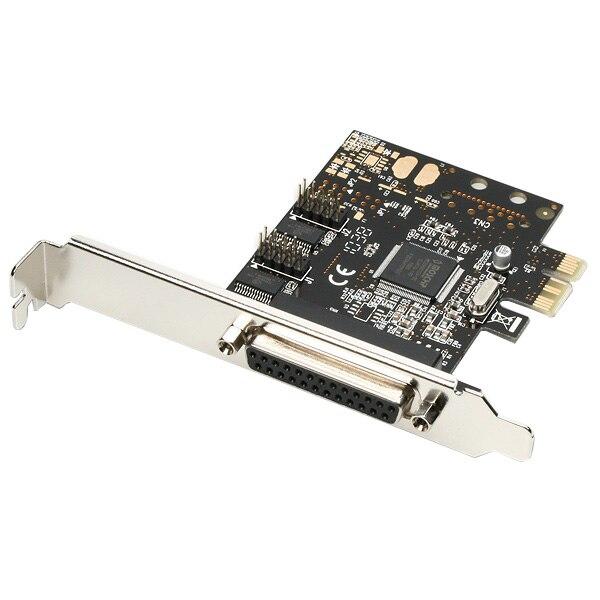 Fotografie Card PCI-E x1 Axagon PCEA-PS, adaptor la 1x Parallel DB25 female + 2x Serial DB9 male, Include bracket Low Profile