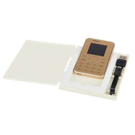 AEKU i9 MINI kártyatelefon, 1,54 hüvelykes, ultra vékony 6 mm-es, kettős sáv, arany