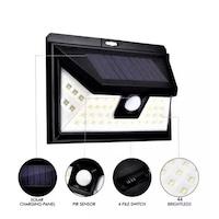 Прожектор със сензор за движение KAPP, FURNIZORONLINE , соларен, LED, 180°