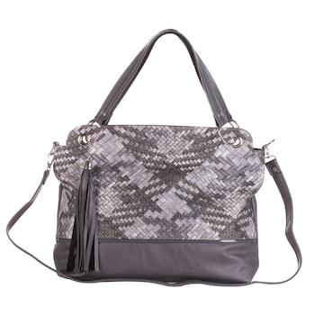 Szürke színű, környezetbarát bőrből készült WES női táska