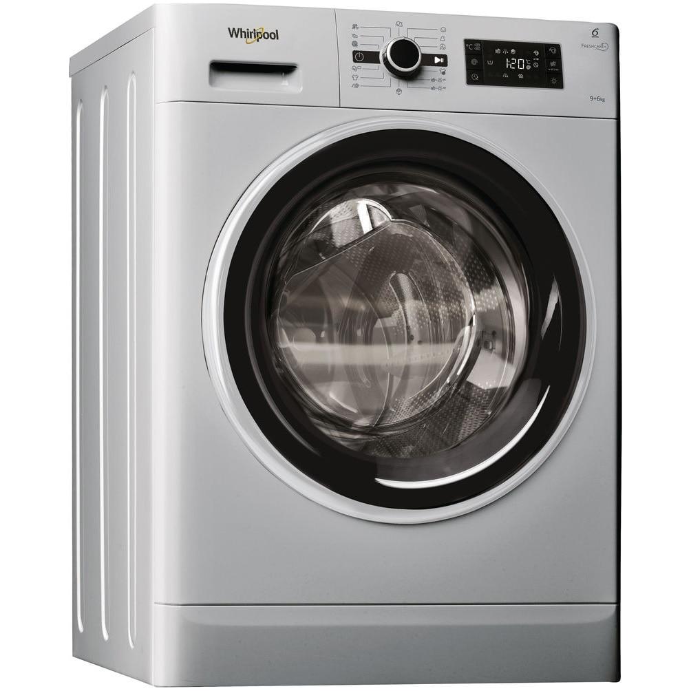 Fotografie Masina de spalat rufe cu uscator Whirlpool FWDG96148SBS EU FreshCare+, 1400 RPM, 9 kg spalare, 6 kg uscare, Tehnologie al 6-lea Simt, Clasa A, Argintiu