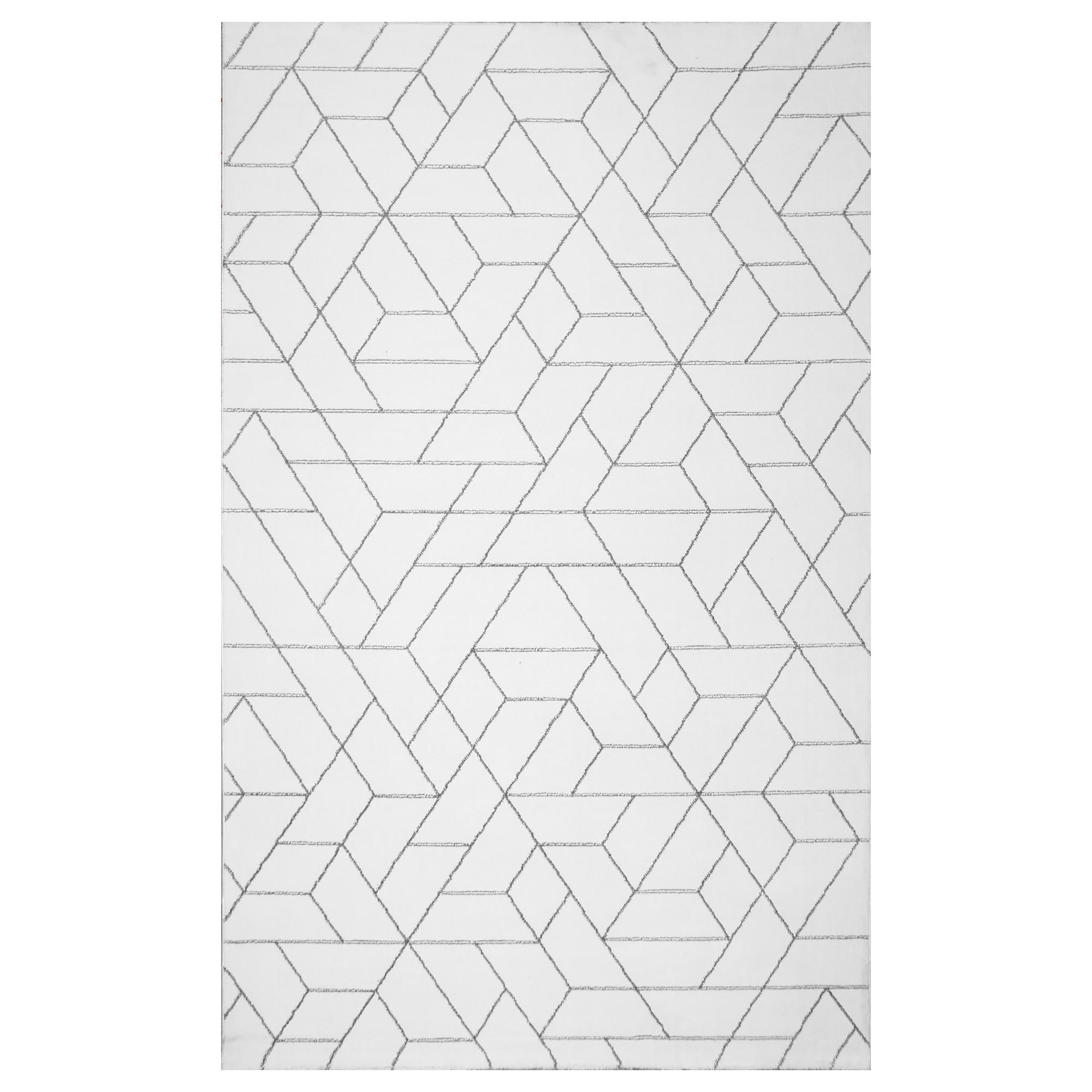 Fotografie Covor LG 02 Eko Halı, 100% poliester, 200x290 cm, alb/argintiu