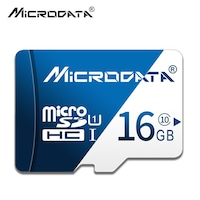 Карта памет , Microdata , микро SD , капацитет 16GB , цвят Син