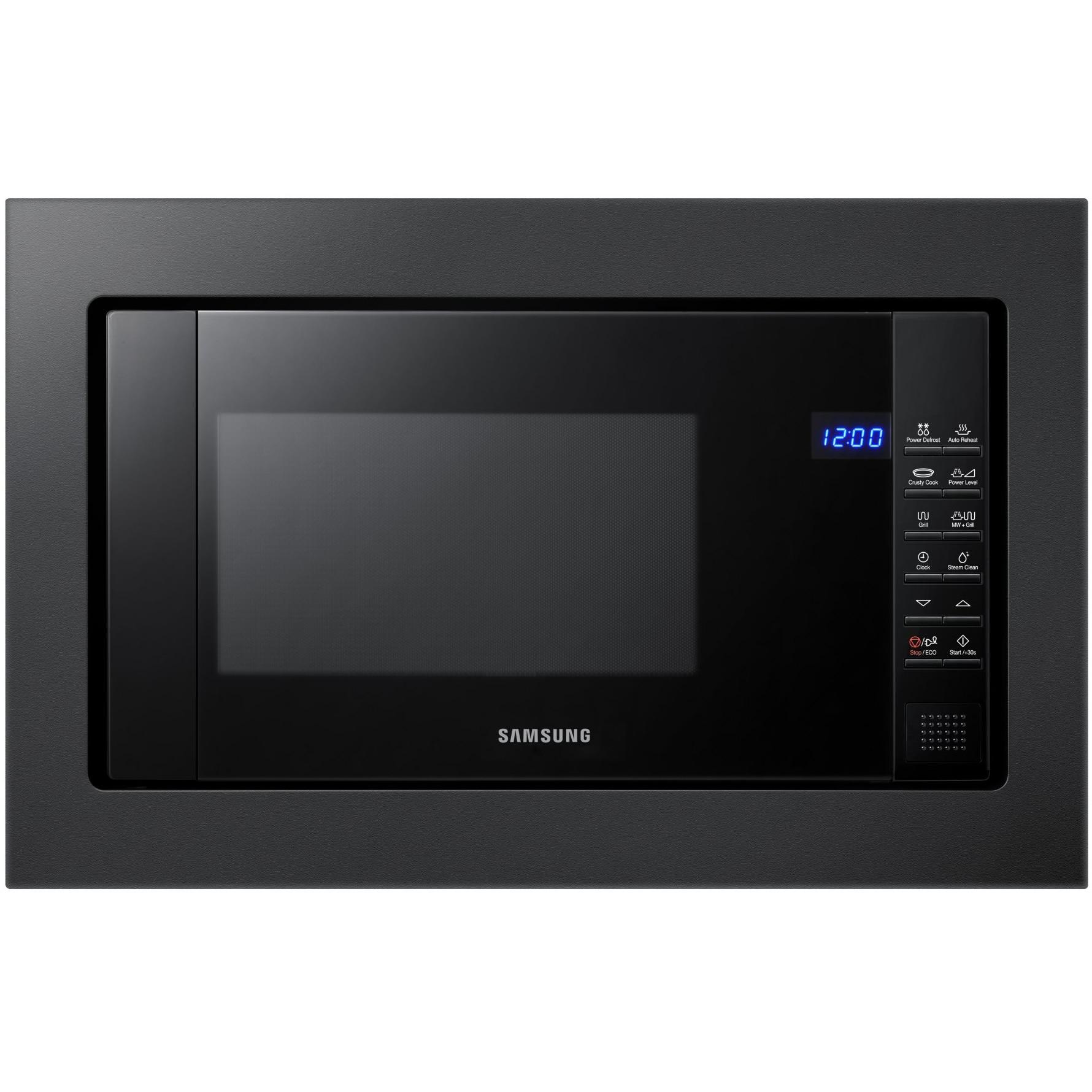 Fotografie Cuptor cu microunde incorporabil Samsung FG87SUB/BOL, 23 l, 800 W, Grill, Curatare cu aburi, Negru