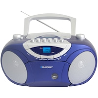 Microsistem Blaupunkt BB15BL, CD Player cu MP3 player, Casetofon, USB, AUX, 2X2W, Albastru