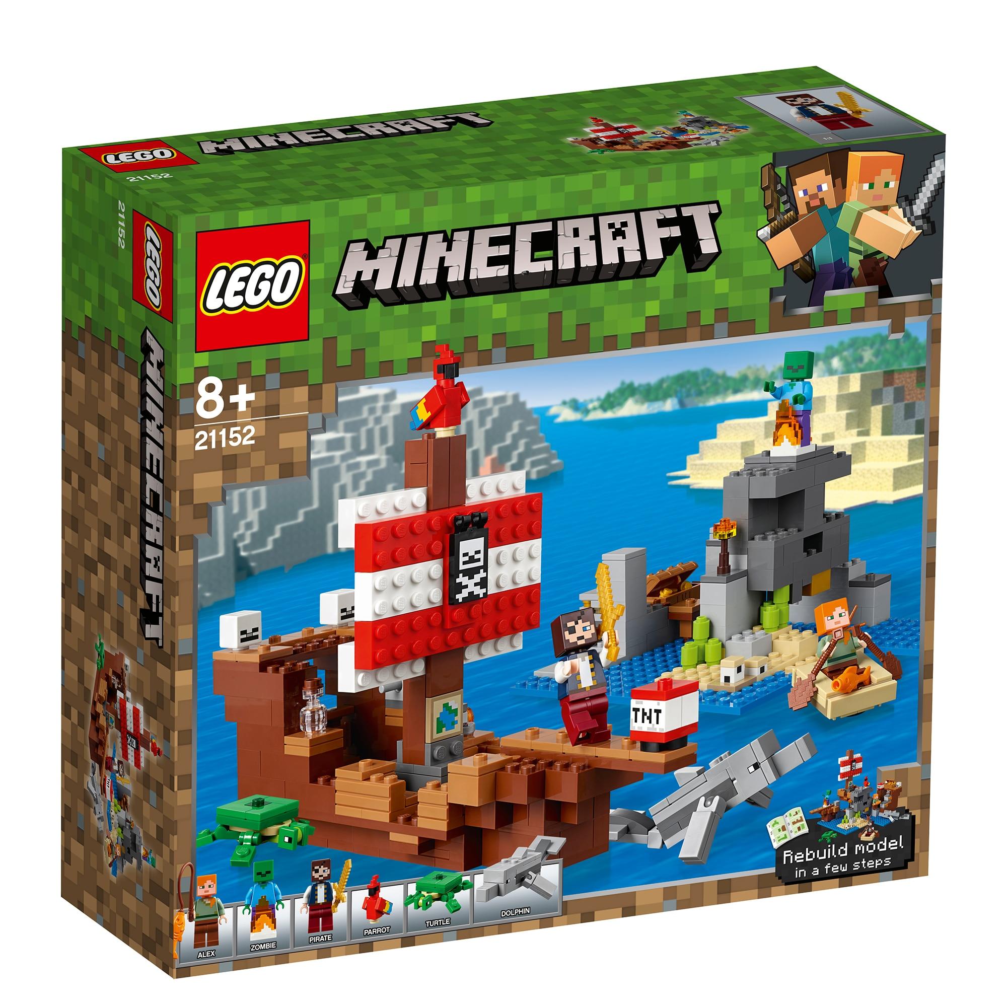 Fotografie LEGO Minecraft - Aventura corabiei de pirati 21152, 386 piese