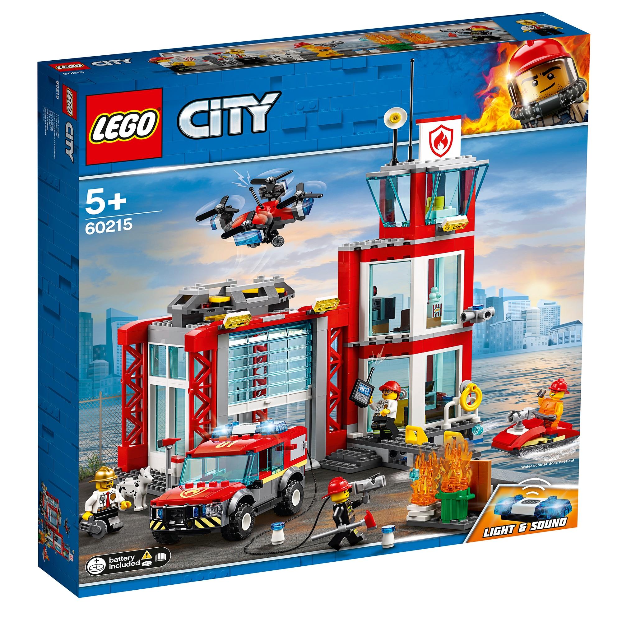 Fotografie LEGO City Fire - Statie de pompieri 60215, 508 piese