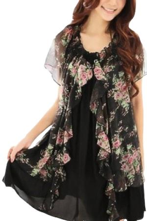 Цветна рокля Eviza 30806