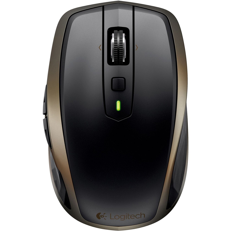 Fotografie Mouse Wireless Logitech MX Anywhere 2, 1600 DPI, USB, Black/Brown
