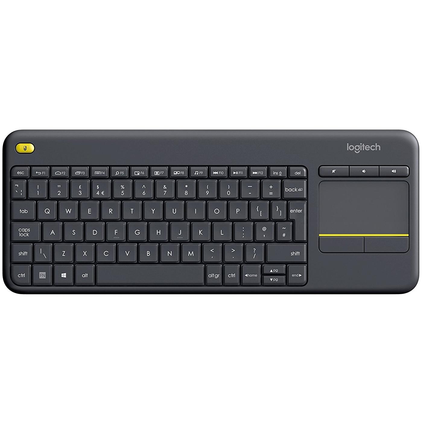 Fotografie Tastatura Wireless Logitech K400 Plus Dark, Touchpad, USB, Black