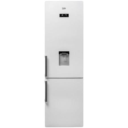 Combina frigorifica Beko RCNA400E21DZW, 344 l, Clasa A+, NeoFrost, Display electronic, Iluminare LED, Dozator apa, H 201 cm, Alb