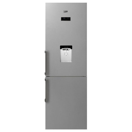 Combina frigorifica Beko RCNA365E20DZXP, 306 l, Clasa A+, H 185 cm, Display electronic, Iluminare LED, Dozator apa, Inox