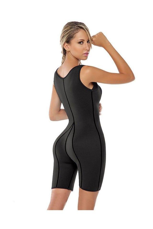 PACHET Costum modelator fitness din neopren pentru slabire intensa + GRATIS PLASTURI SLABIT