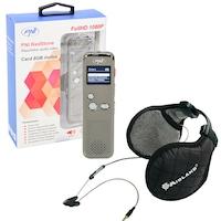 Комплект Диктофон PNI RedStone, Audio Stereo, Video 1080P, MP3 player, MicroSD 8GB включен + Ушанки Midland Subzero