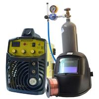 Телоподаващ инверторен автомат TIGTAG MIG230XSP, жълт комплект за СО2 заваряване