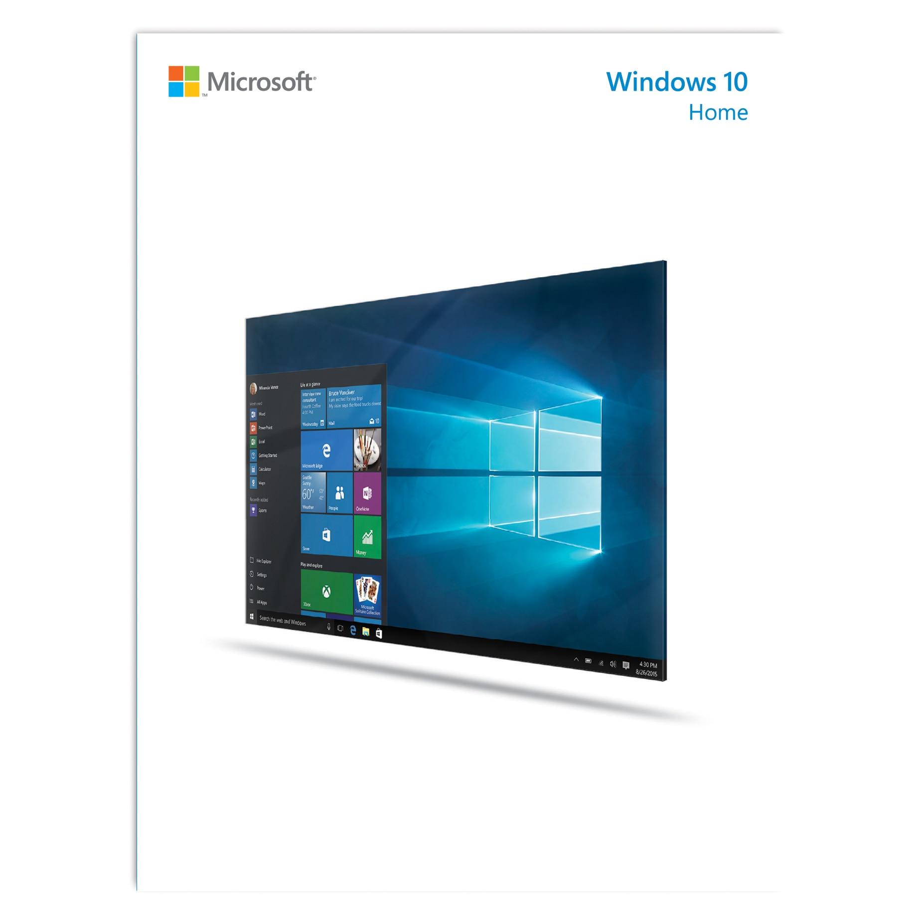 Microsoft Windows 10 Home 32 bit64 bit, Többnyelvű, online letölthetős licens
