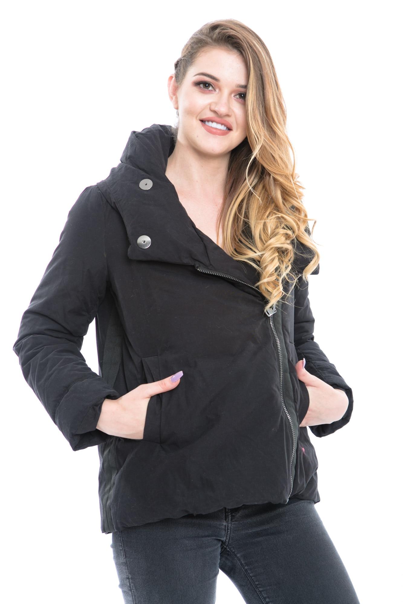 Női kabát Zara, fekete, méret S eMAG.hu
