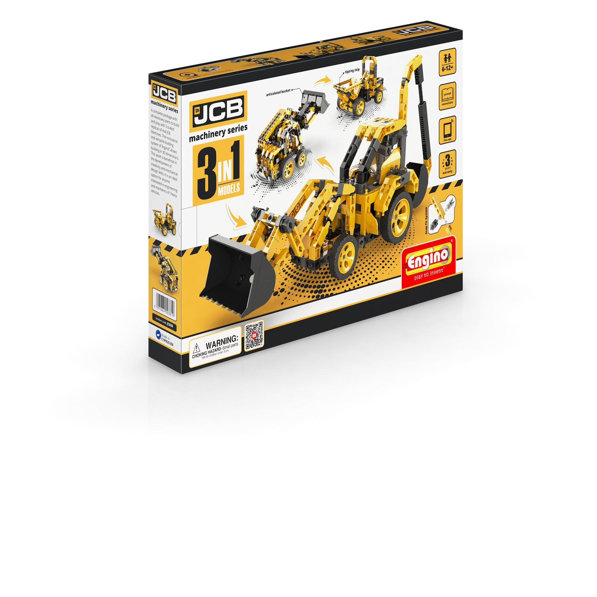 Engino JCB Construction - Billenős Teherautó 3in1 Építőjáték N9xHx3