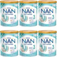 Pachet lapte praf Nestle NAN 3 Optipro, 6x800 g, 1-2 ani