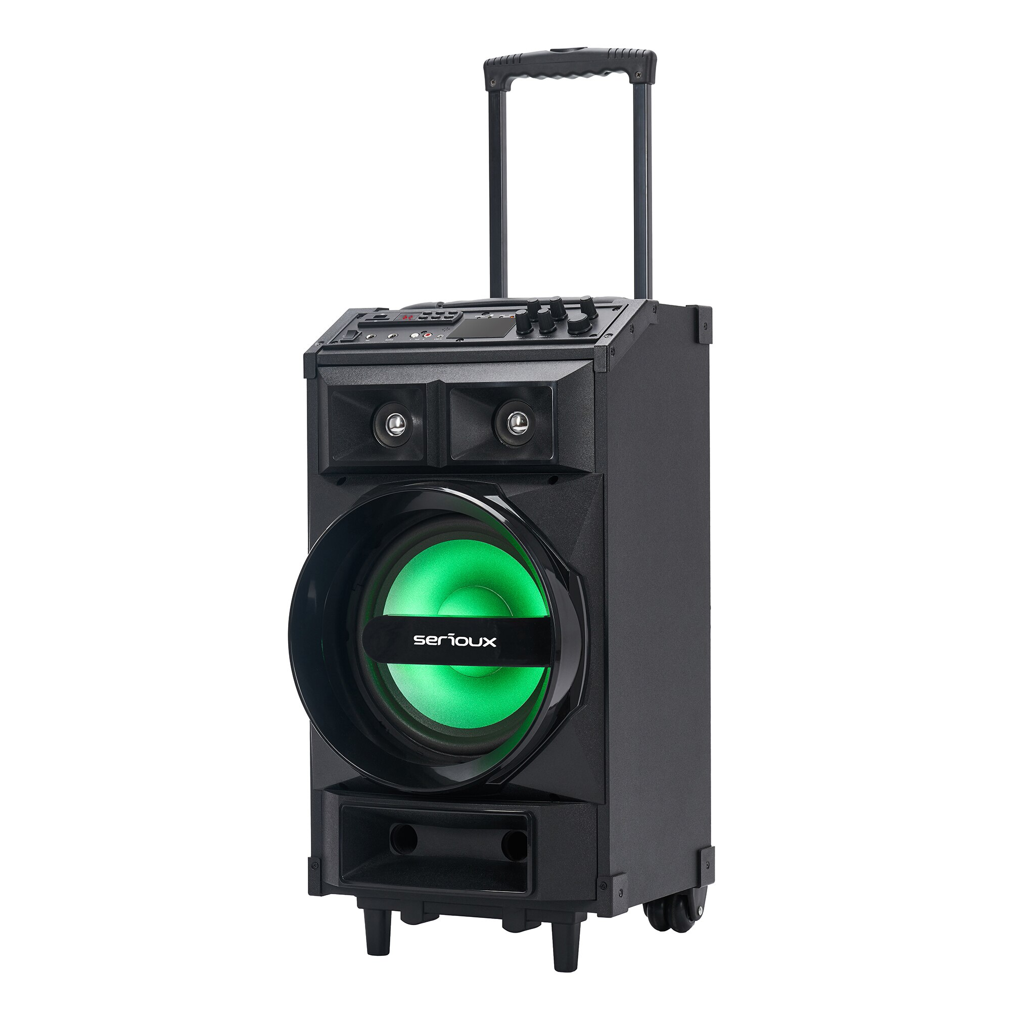 Fotografie Boxa portabila Serioux Trolley SoundCase , bluetooth, SD card, USB, 130W