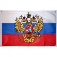 Знаме Русия с герб, 90 x 150 см.
