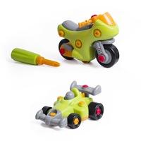 Комплект за сглобяване Eurekakids, Мотор и Състезателна Кола, В куфарче, Многоцветно