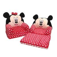 Minnie Mouse Plüss fotel 85x45x40cm, Fekete/ Piros/Fehér