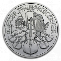 Сребърна монета Виенска филхармония емисия 2019