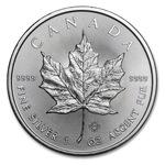 Сребърна монета Канадски кленов лист 2018