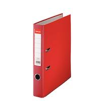 Biblioraft A4 plastifiat 5 cm Esselte Eco - rosu - 25 bucati/ cutie