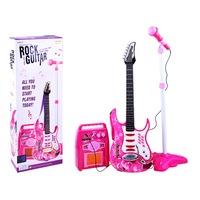Elektromos gitár mikrofonnal és erősítővel lányoknak
