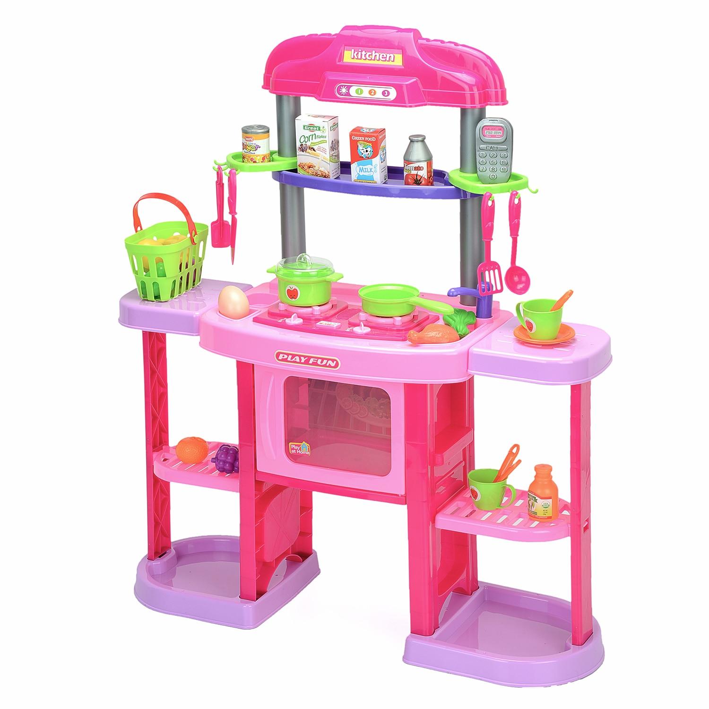 Fotografie Bucatarie copii M-Toys cu 32 de accesorii, lumini si sunet