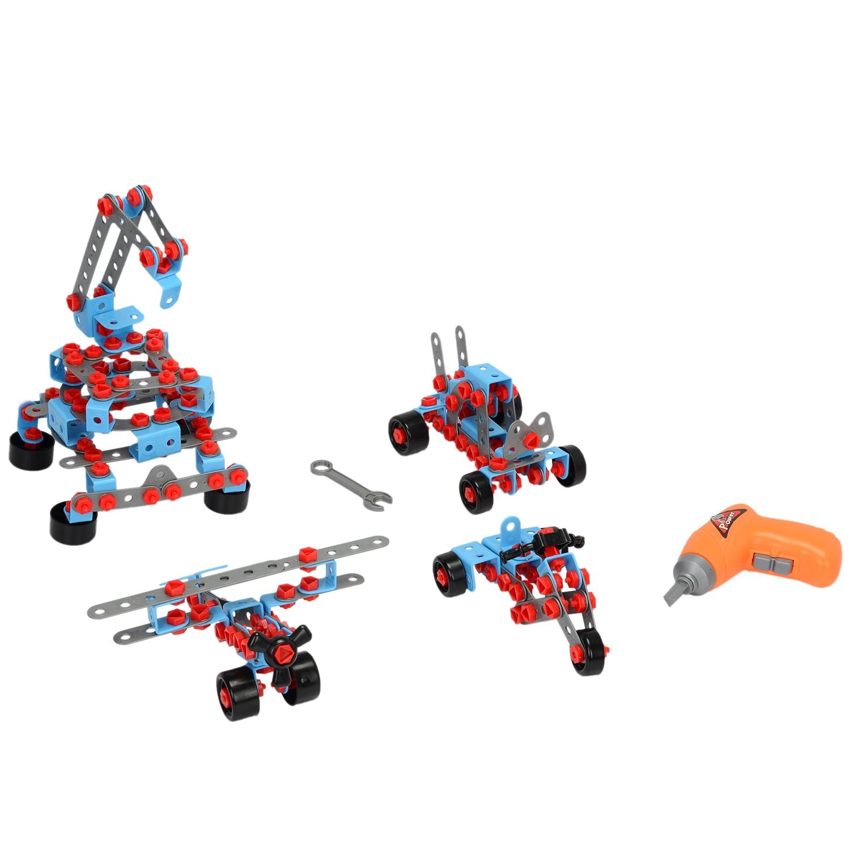 Fotografie Set de constructie M-Toys cu 550 piese din plastic