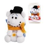 Плюшена мини играчка Trudi Xmass Sweet Collection 52080, Коледен Снежко