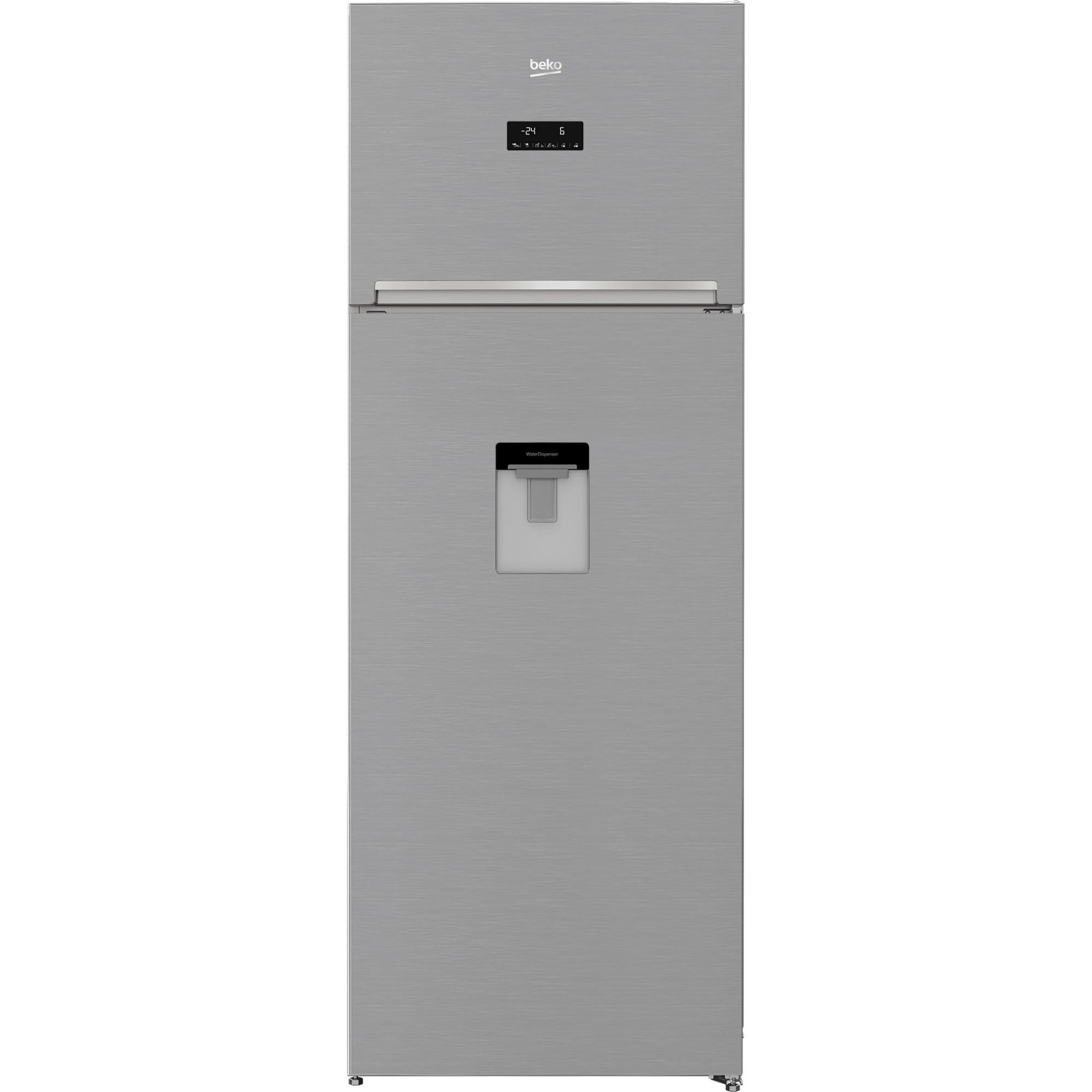 Fotografie Frigider cu doua usi Beko RDNE535E30DZXB, 471 litri, Clasa A++, Compartiment 0°C, Compresor ProSmart Inverter, Everfresh+, NeoFrost, 193 cm, Argintiu