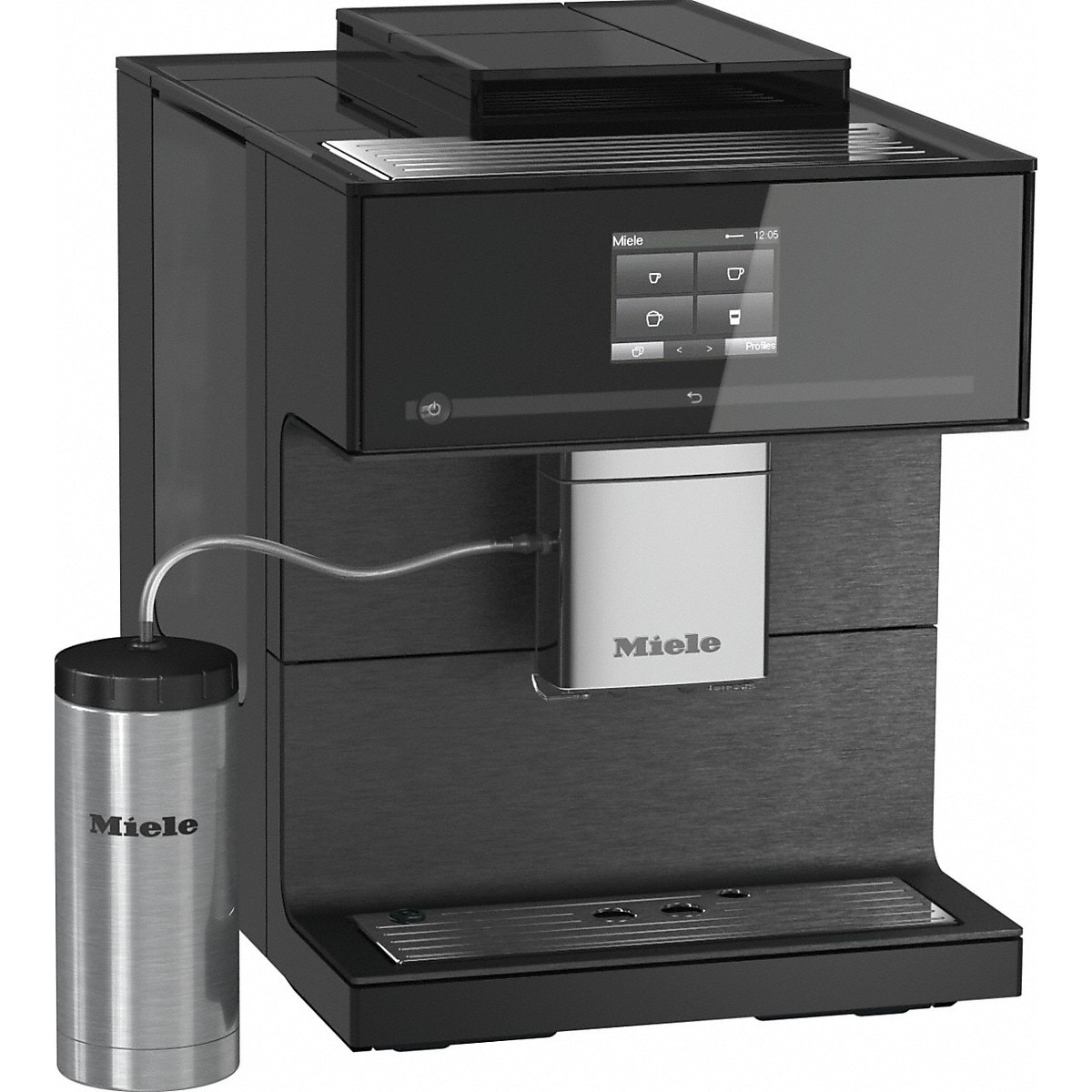 Fotografie Espressor Miele CM 7750, One Touch for Two, Aromatic SystemFresh, AutoDescale, WLAN,  2.2 l, 3 recipiente cafea, Negru