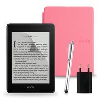 Комплект: eBook четец Kindle Paperwhite (2018), 8GB, Черен + Калъф, Светлорозов