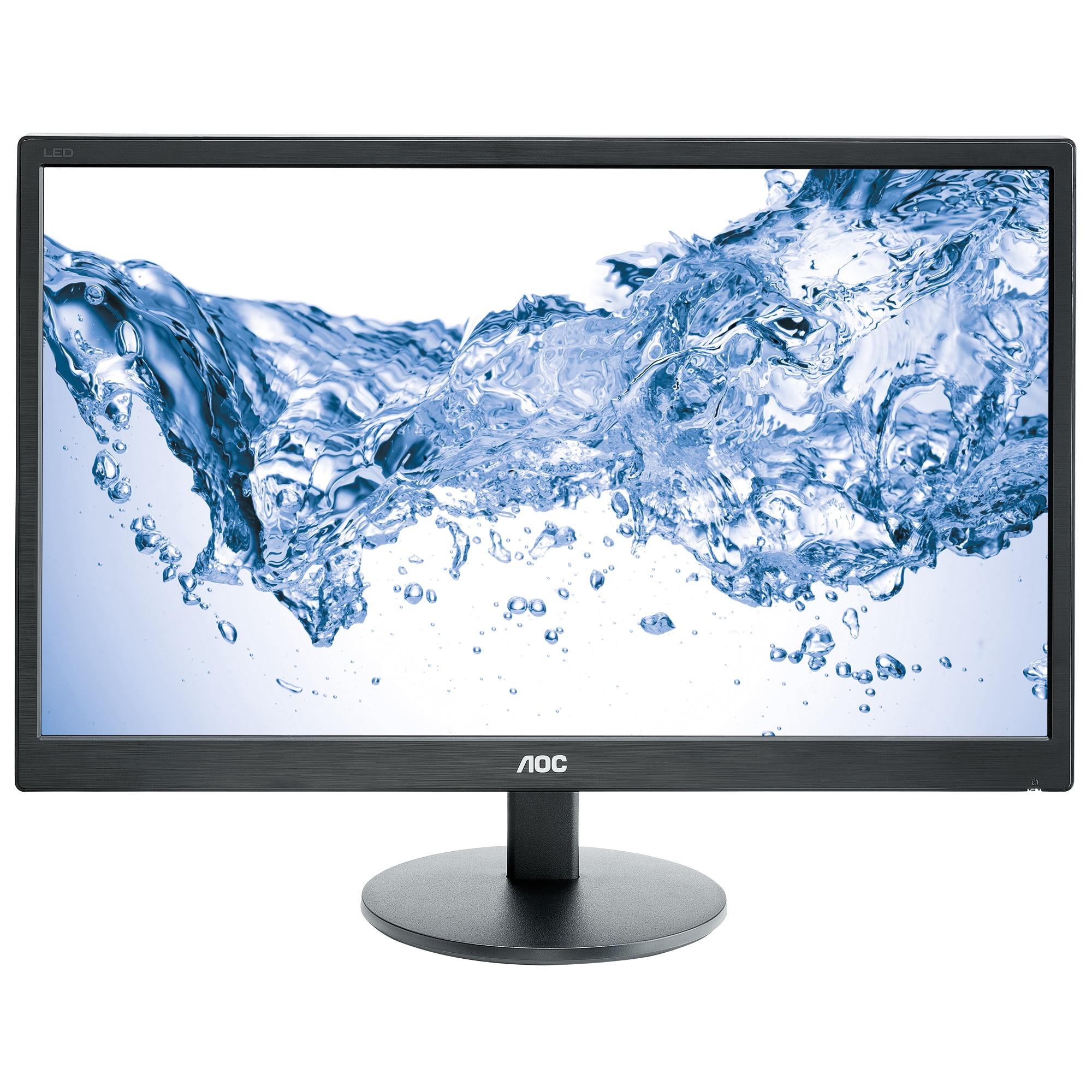 Fotografie Monitor LED MVA AOC 23.6'', Wide, Full HD, DVI, Negru, M2470SWDA2