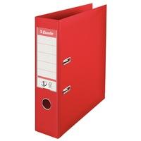 Biblioraft A4 plastifiat 7.5 cm Esselte Standard - rosu - 10 bucati/ cutie