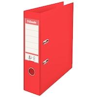 Biblioraft A4 plastifiat 7.5 cm Esselte Standard Vivida - rosu - 10 bucati/ cutie