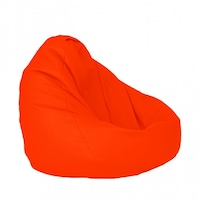 Пуф Pufrelax фотьойл тип круша Размер XL, Nirvana Grande - Teteron Neon Orange, Подходящ за използване на открито, Перящ се текстилен калъф, Пълнеж от Полистиролни перли