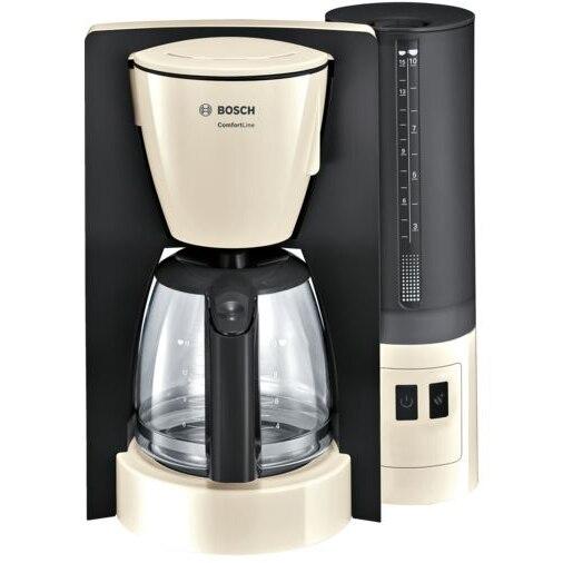 Fotografie Cafetiera Bosch TKA6A047, 1.2 L, selector aroma, anti-picurare, oprire automata, program decalcifiere, Bej